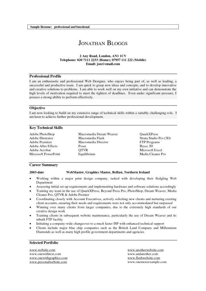 Sample Resume Profile Statements - cv01.billybullock.us