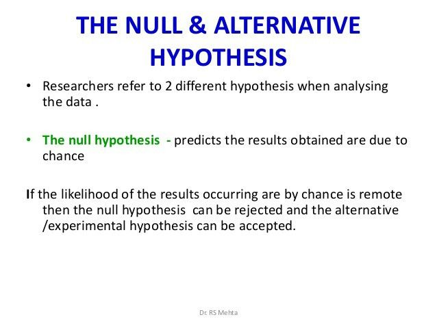 Hypothesis for bn 1