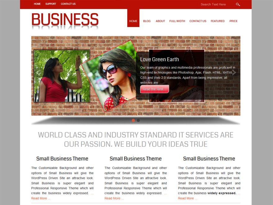 Small Business — Free WordPress Themes