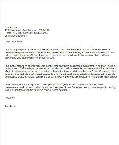 Cover Letter Sample For Job - 7+ Examples in Word, PDF