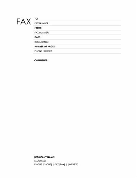 Fax cover sheet (Block design) - Office Templates