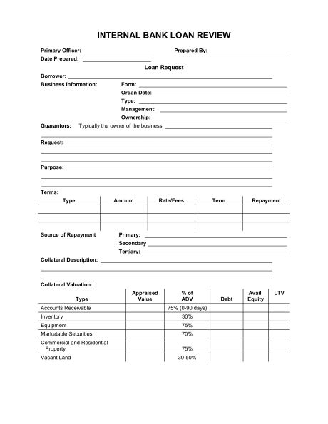 Bank Loan Application Form and Checklist - Template & Sample Form ...