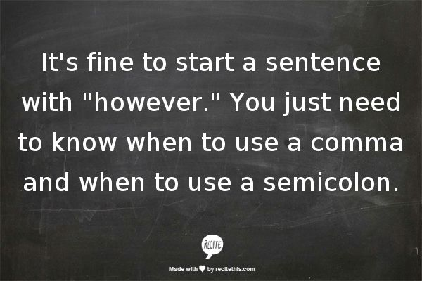 Grammar Girl : How to Use Semicolons :: Quick and Dirty Tips ™