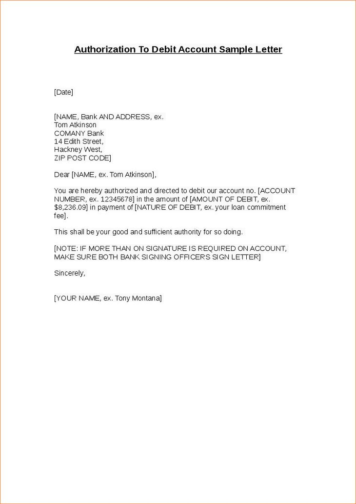 7+ bank authorization letter | Procedure Template Sample