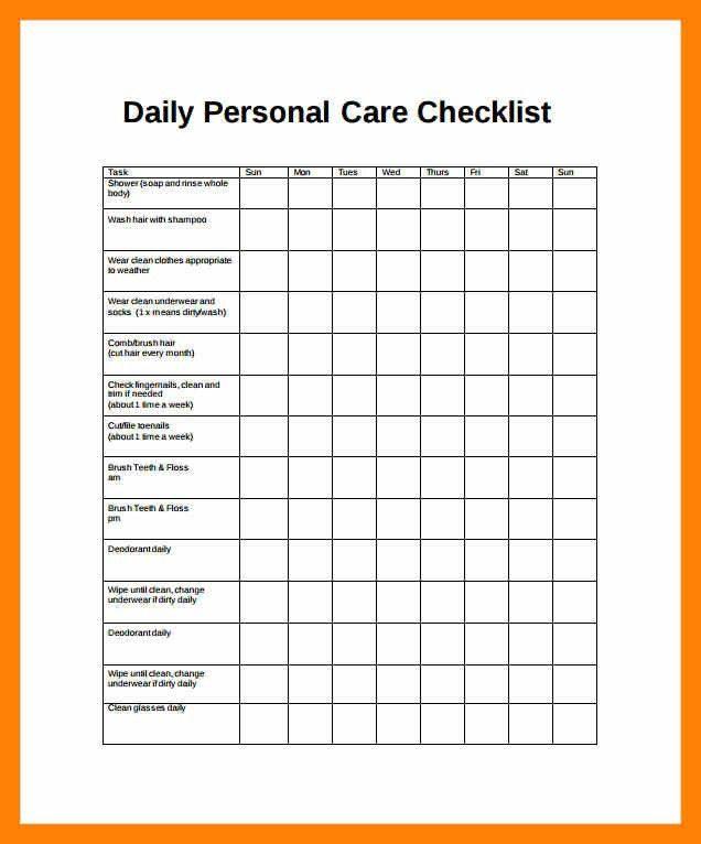 3+ daily checklist | informal letter
