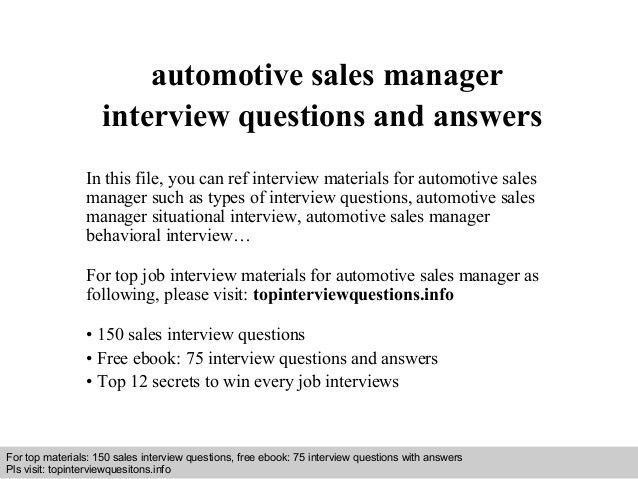 used car manager resume best resume sample. resume automotive ...
