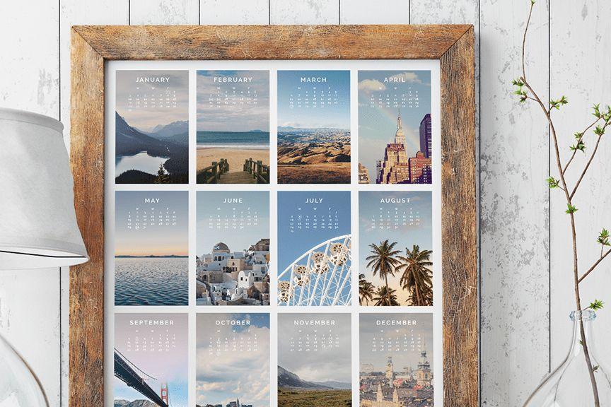 Custom Designer Calendar Photoshop Templates - Design Aglow