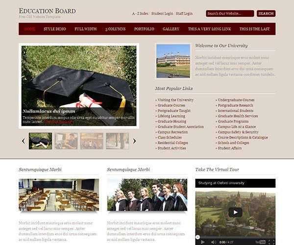 22 Free Education HTML Website Templates | TemplateMag