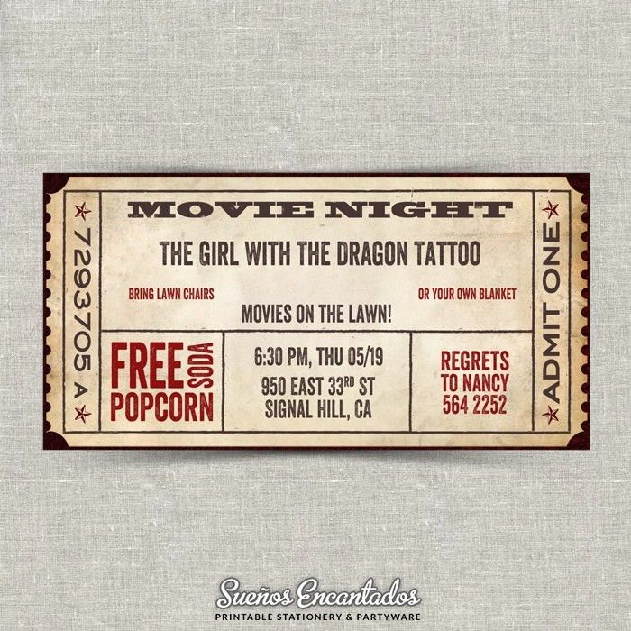 24 best Mygrafico Movie Night Party Ideas, cliparts and Printables ...