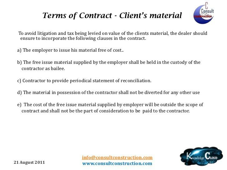Vat on works contract