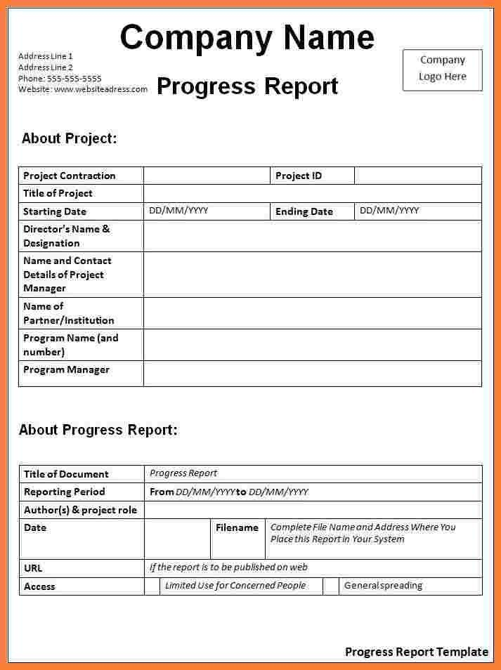 Progress Report Template. Evaluation Report Template Report ...