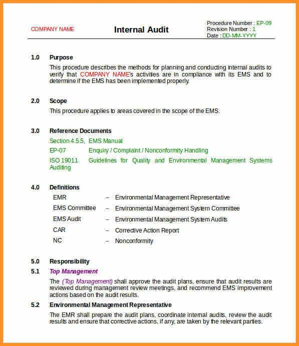 7+ Audit Review Template | Cook Resume