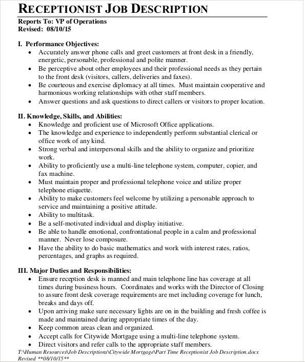 Job Description Template - 10+ Free Word, PDF Documents Download ...