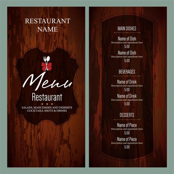 Restaurant menu template free vector download (14,009 Free vector ...