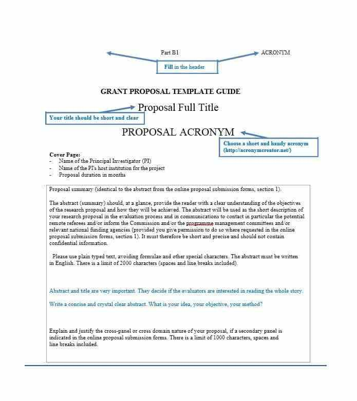Grant Template. 5 grant proposal cover letter proposal template ...