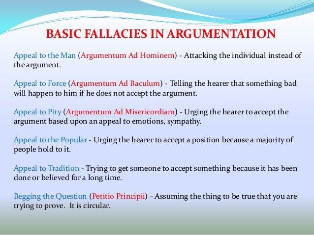 Philosophy of debating & argumentation