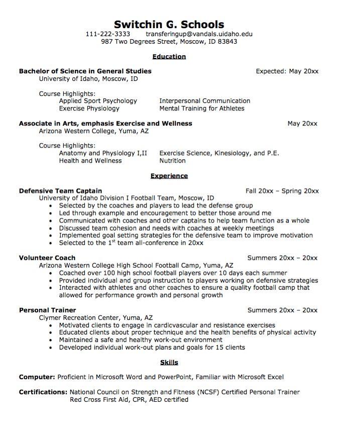 Transfer Student Resume Sample - http://exampleresumecv.org ...