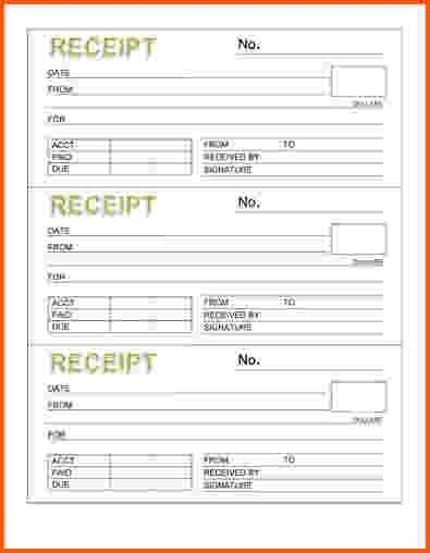 8+ rental receipt template | Survey Template Words