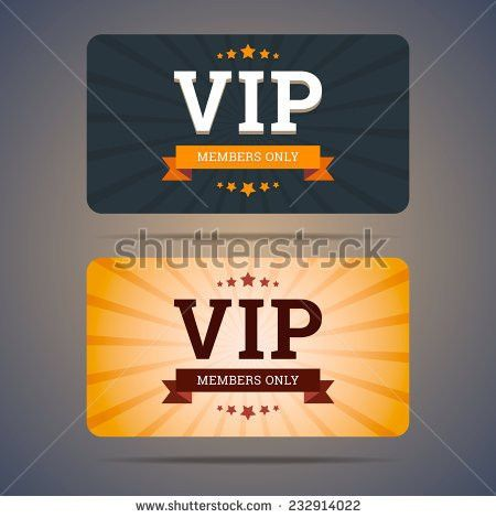 Golden Platinum Vip Card Template Type Stock Vector 606480587 ...