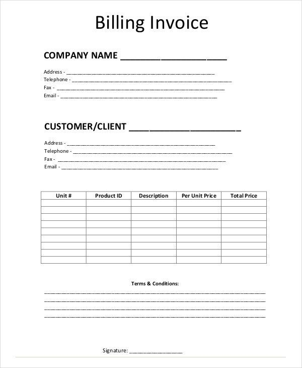 Simple Invoice Templates - 11 Free Word, PDF Format Download ...