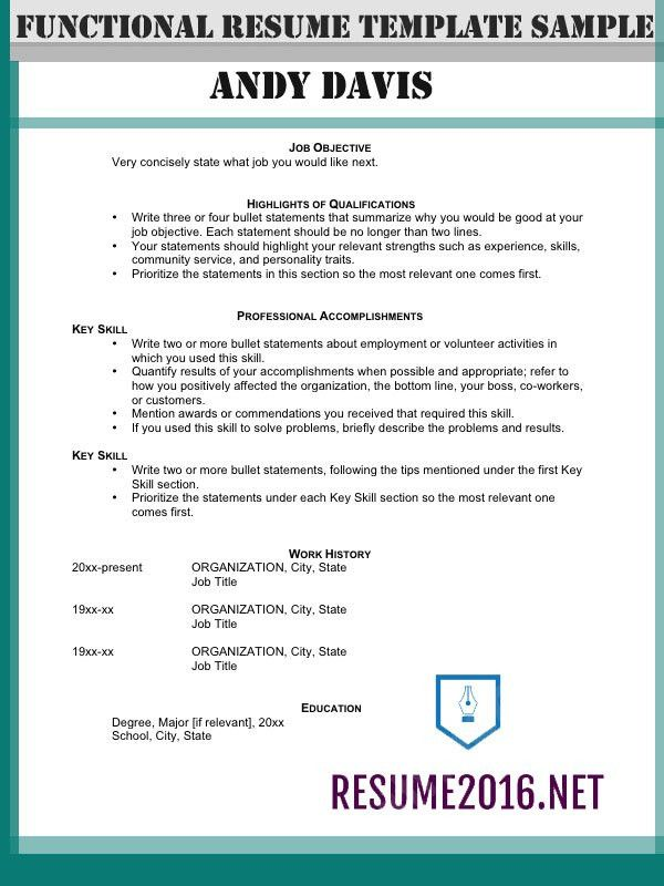 Functional resume format 2016: How to highlight skills!