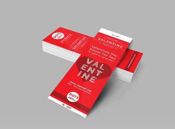 Valentine Dinner Ticket Template | MyCreativeShop
