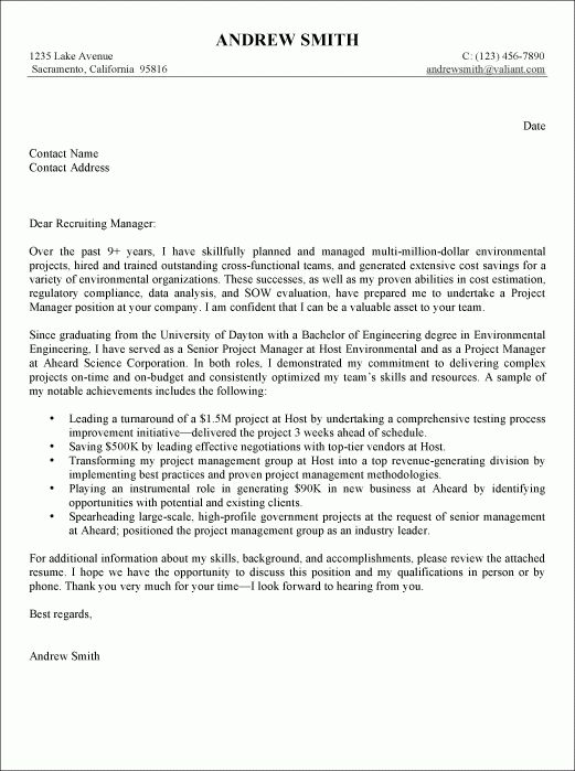 general resume cover letter examples general manager cover letter ...