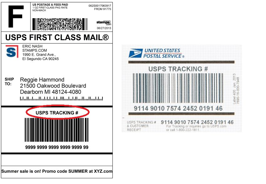 Stamps.com BlogDelivery Confirmation is now called USPS Tracking ...