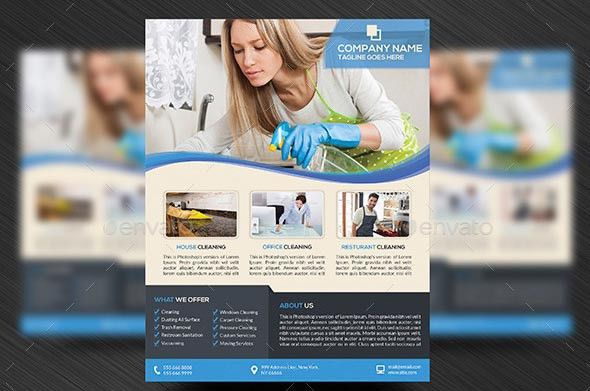 9 Nice Cleaning Service Flyer & Brochure Templates – Design Freebies