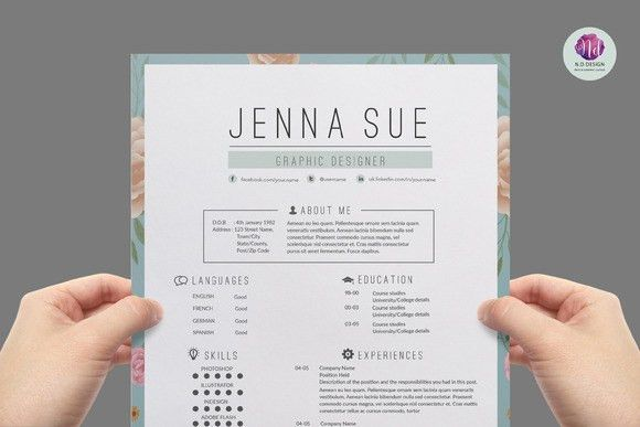 Super chic , modern resume template by Chic templates on Creative ...