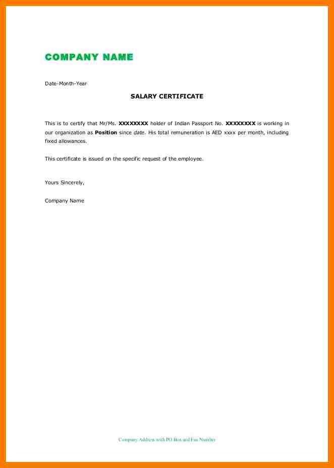 4+ sample salary certificate | park-attendant