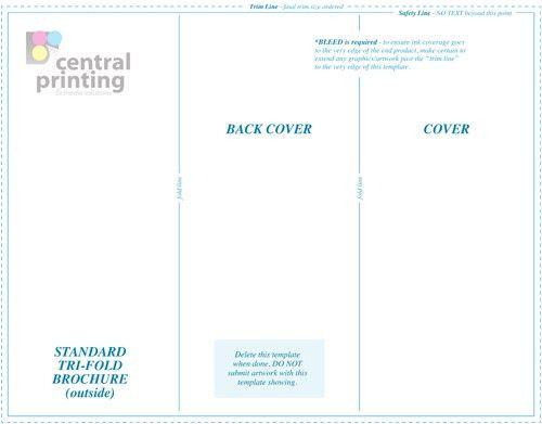 free tri fold brochure design templates   Media Templates