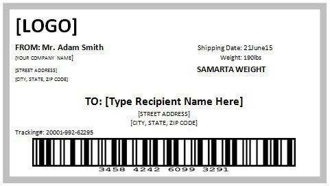 Free Printable Shipping Label Template   Template Design