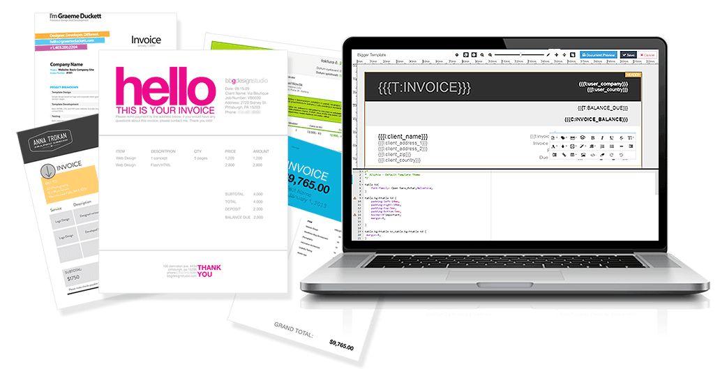 Create and edit your invoice online: Aliphia.com