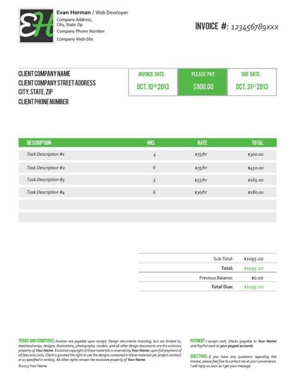 40 Invoice Templates | Free & Premium