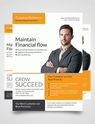 Psd Business Flyer Template | Free Photoshop Template