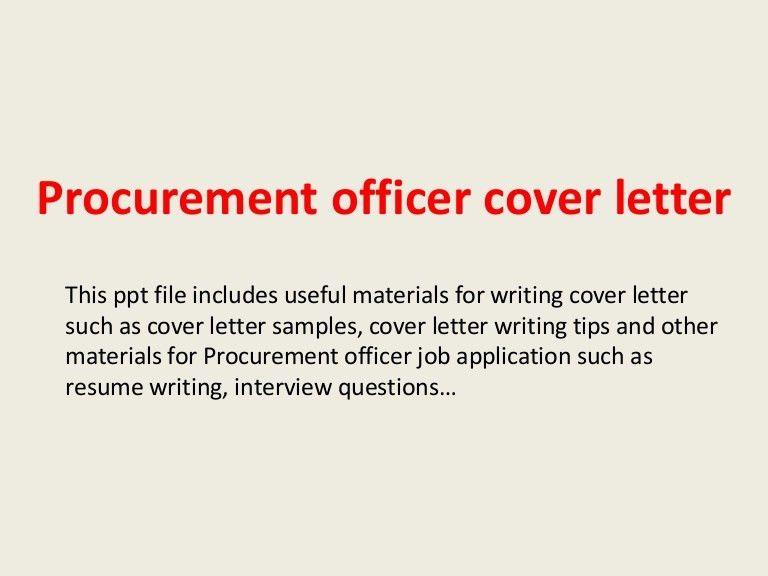 procurement specialist cover letters