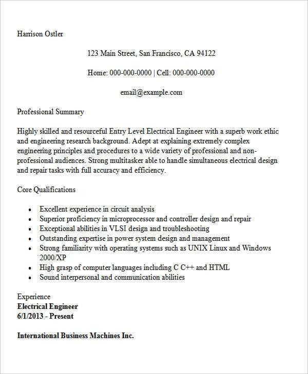 25+ Best Engineering Resume Templates | Free & Premium Templates