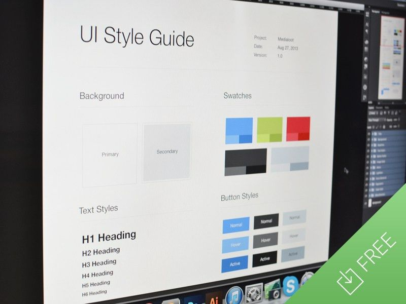 UI Style Guide Template (.psd) by Medialoot - Dribbble