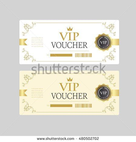 Vector Gift Voucher Template Stock Vector 370786559 - Shutterstock