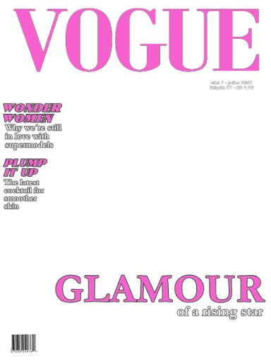 10 Best Images of Blank Vogue Magazine Covers - Blank Vogue ...