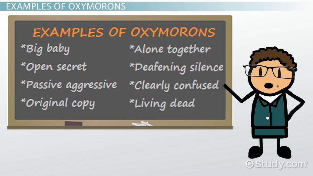 Oxymoron Lesson for Kids: Definition & Examples - Video & Lesson ...