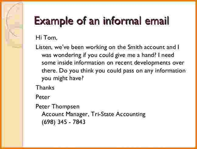 7+ formal emails english examples   Financial Statement Form