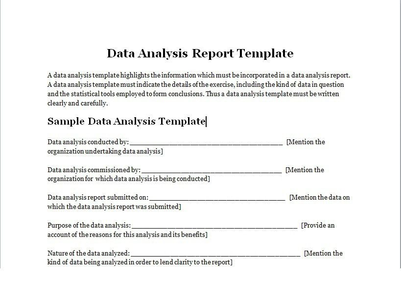 Data Analysis Template. Data Analysis Template Driven Line Chart ...