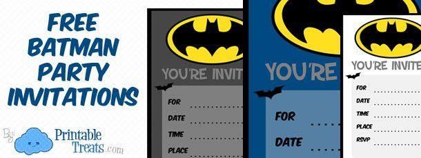 Batman Birthday Invitations to Print — Printable Treats.com