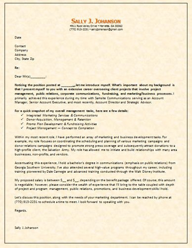 Sample Cover Letter Content That Explains Employment Gaps