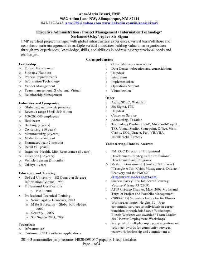 project management resume samples director project management ...