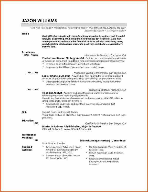 Good Resume Templates