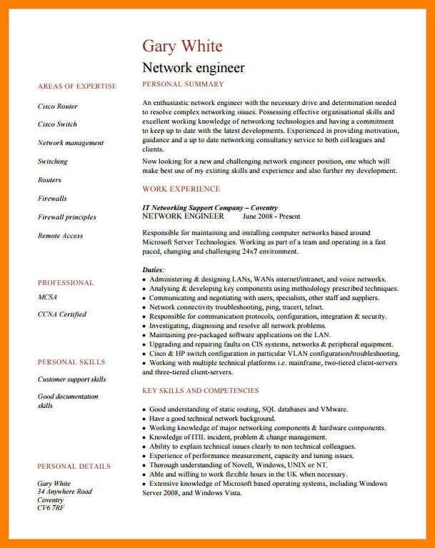 Network Engineer Resume. Senior Network Engineer Resume Free Pdf ...