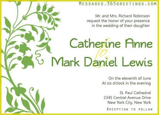 Wedding Invitation Wording - 365greetings.com
